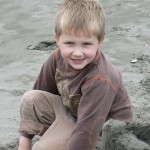 Jackson at 6, Enjoying the Beach